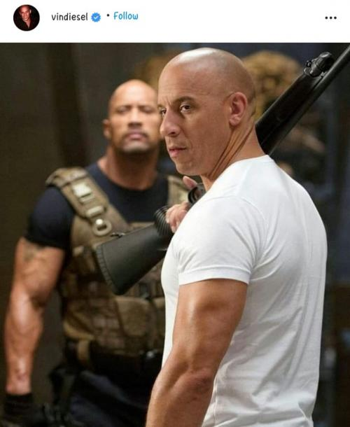 Vin Diesel dan Dwayne Johnson.
