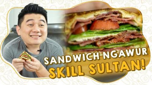Sandwich sultan ala Chef Arnold. (Foto: YouTube Arnold Poernomo)