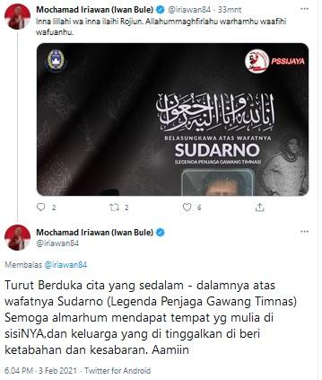Cuitan Ketum PSSI, Mochamad Iriawan