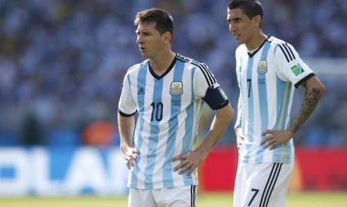 Lionel Messi dan Angel Di Maria