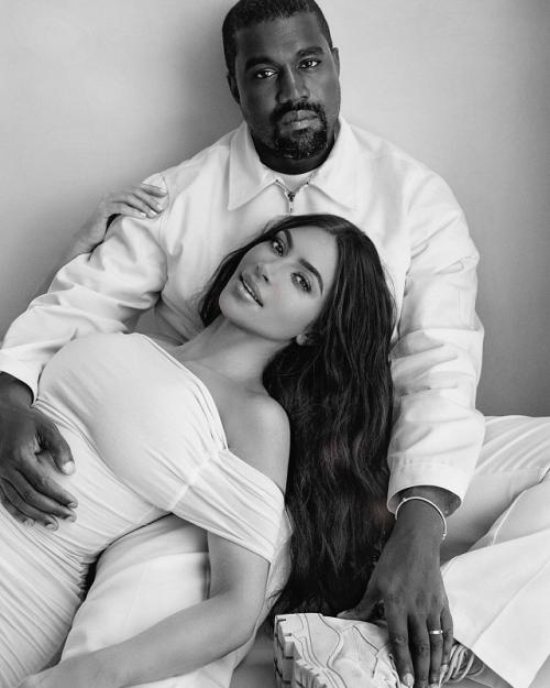Kim Kardashian dan Kanye West. (Foto: Instagram/@kimkardashian)