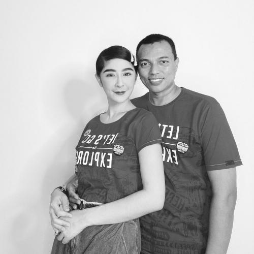 Uut Permatasari dan suami. (Foto: Instagram/@uutpermatasari)
