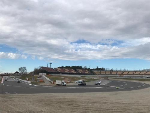 Tikungan 10 Sirkuit Catalunya direnovasi (Foto: Twitter/@Circuitcat_eng)
