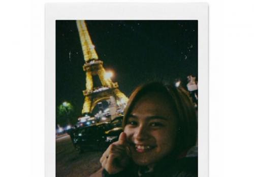 Melati Daeva di Paris (Foto: IG/@melatidaeva)