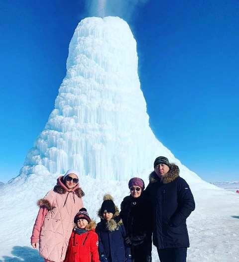 Gunung es mungil mendadak muncul di Kazakhstan. (Foto: Instagram @ttaitarazova)