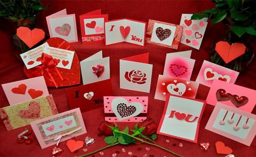 Kartu ucapan Valentine Day.