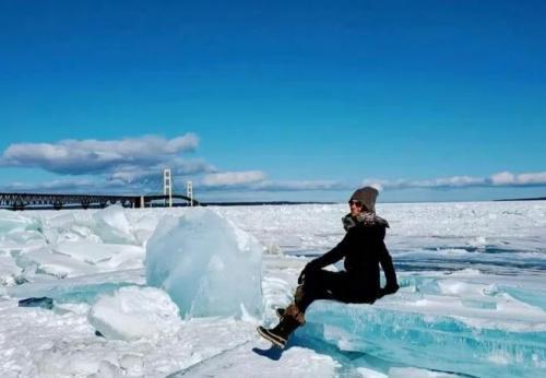 Blue Ice di Michigan