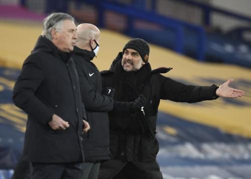 Pep Guardiola dan Carlo Ancelotti