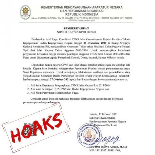 CPNS Hoaks (Kemenpan RB)
