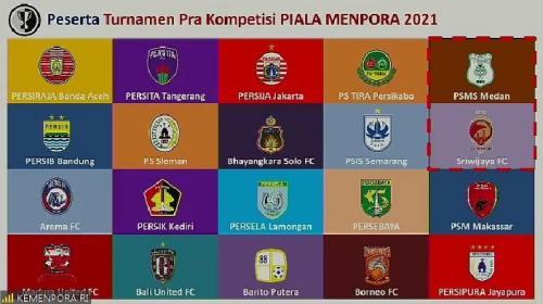 Peserta Piala Menpora 2021