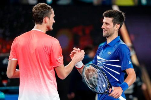 Daniil Medvedev cukup mampu mengimbangi Novak Djokovic (Foto: Twitter/@AustralianOpen)