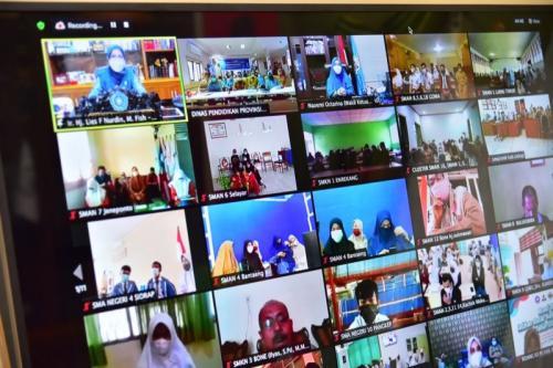 Webinar sosialisasi anak sebagai agen perubahan (Foto : Istimewa)