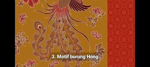 Motif Burung Hong