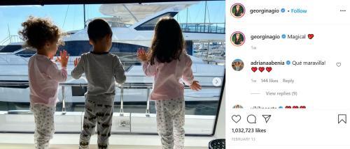Maria, Mateo, dan Alana (Foto: Instagram/@georginagio)