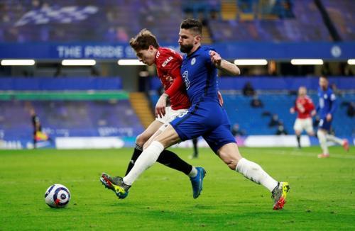 Suasana laga Chelsea vs Man City