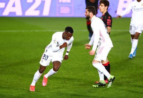 Vinicius Junior di laga Madrid vs Sociedad