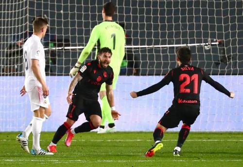 Real Sociedad unggul lebih dulu (Foto: Reuters/Sergio Perez)