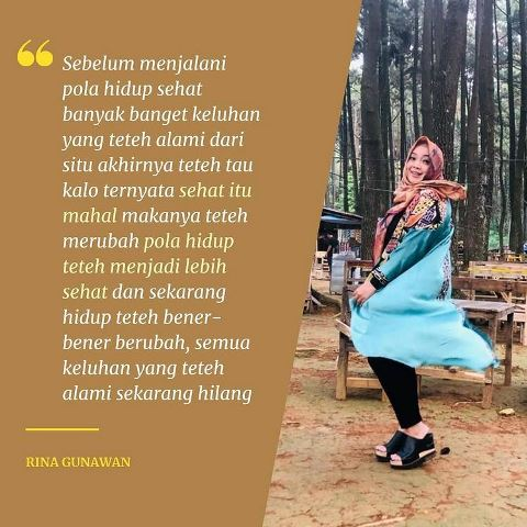 Rina Gunawan. (Foto: Instagram @sehatbarengtehrina)
