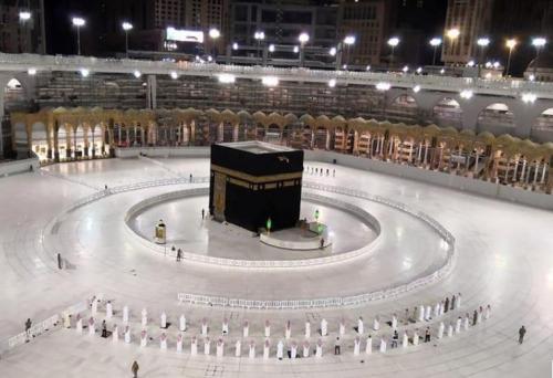 Kakbah atau Baitullah di Kota Makkah.