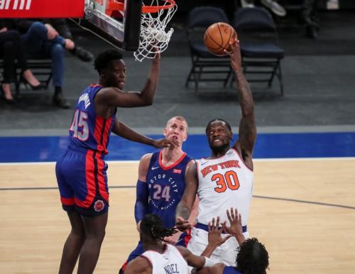 Knicks berhasil tekuk Pistons (Foto: Reuters/Wendell Cruz)