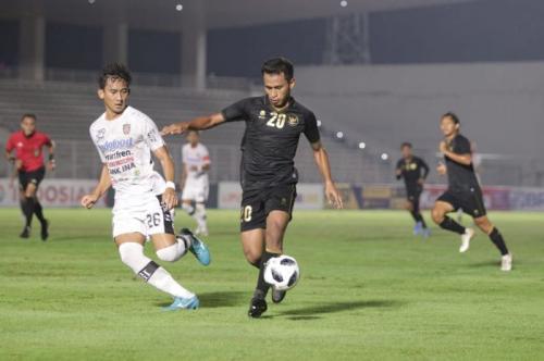 Timnas Indonesia U-23 melawan Bali United (Foto: PSSI)