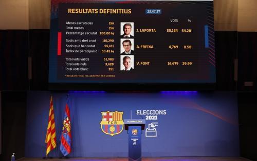 Hasil pemungutan suara (Foto: Reuters/Albert Gea)