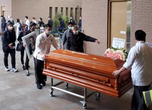 Prosesi kremasi aktor veteran Hong Kong, Ng Man Tat. (Foto: Facebook/TVB Entertainment News)