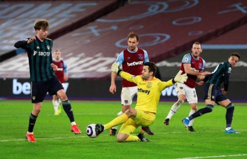 Leeds United tumbang di tangan West Ham United (Foto: Reuters)