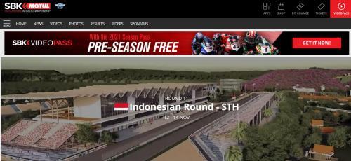 Sirkuit Mandalika masuk kalender Superbike WSBK 2021