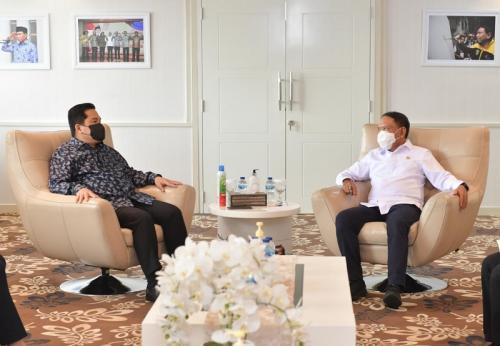 Menpora Zainudin Amali bertemu Erick Thohir