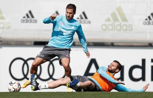 Aksi Hazard di sesi latihan Madrid