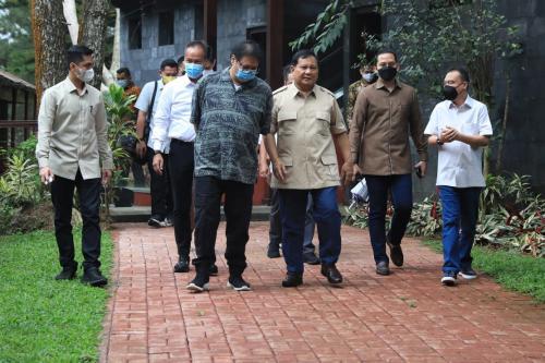 Airlangga dan Prabowo bertemu di Hambalang (Foto : Istimewa)
