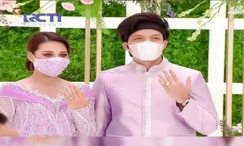 Atta Halilintar dan Aurel Hermansyah resmi lamaran. (Foto: Barista/RCTI)