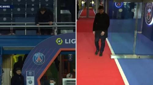 Angel di Maria pada laga PSG vs Nantes