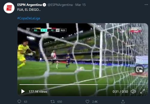 Boca Juniors vs River Plate (Foto: Twitter/@ESPNArgentina)