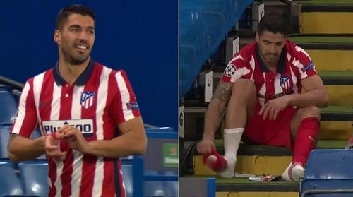 Luis Suarez di laga Chelsea vs Atletico Madrid
