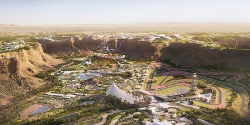 Rencana pembangunan kawasan Sirkuit Qiddiya (Foto: Situs resmi Qiddiya)