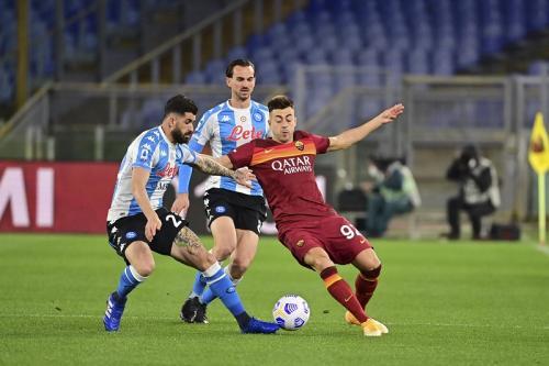 Suasana laga AS Roma vs Napoli (Foto: Twitter/@ASRomaEN)