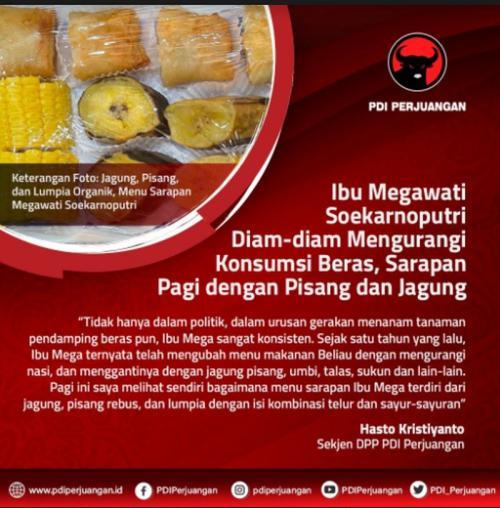 Megawati kurangi makan nasi