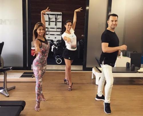 Georgina Rodriguez menari salsa