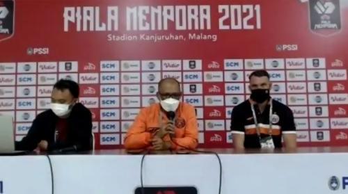 Konferensi pers Persija di Piala Menpora 2021