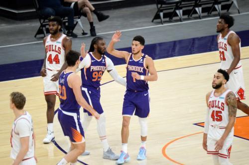 Phoenix Suns taklukkan Chicago Bulls (Foto: Reuters/Joe Camporeale)
