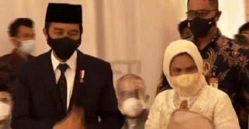 Presiden Jokowi dan istri
