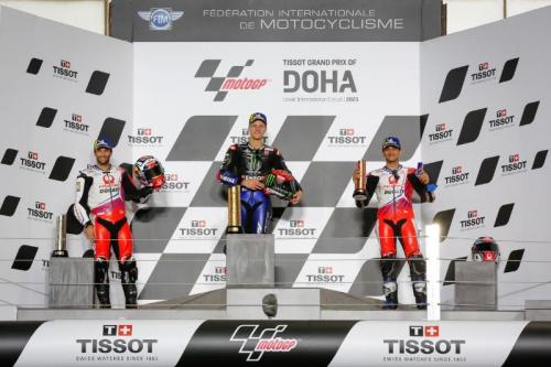 Podium MotoGP Doha 2021