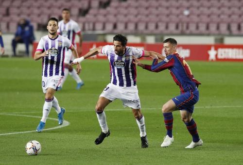 Clement Lenglet vs Valladolid (Foto: Reuters)