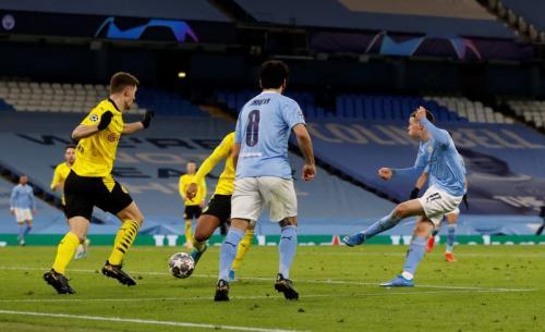 Phil Foden mencetak gol penentu kemenangan (Foto: Reuters/Phil Noble)