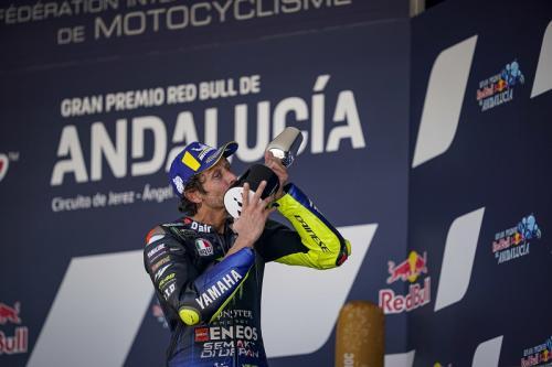 Valentino Rossi hoki di Jerez (Foto: Yamaha MotoGP)
