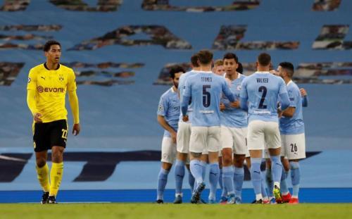 Suasana laga Man City vs Dortmund