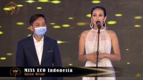Miss Eco Indonesia di ajang internasional. (Foto: Tangkapan layar YouTube Pageant Videos By Tay)