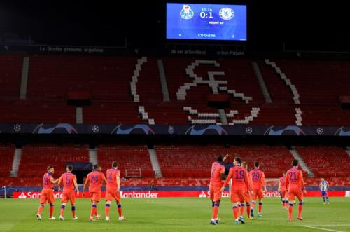 Suasana laga FC Porto vs Chelsea